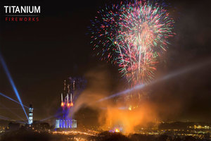 Edinburgh's Hogmanay Display 2014