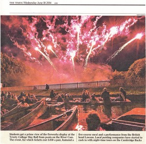Trinity May Ball 2014 The Times