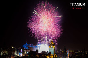Edinburgh's Hogmanay Display 2015