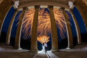 Wedding Fireworks At Stowe House In Buckinghamshire