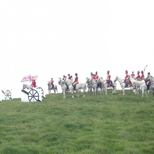 Special Effects At The Battle Of Waterloo Re-Enactment