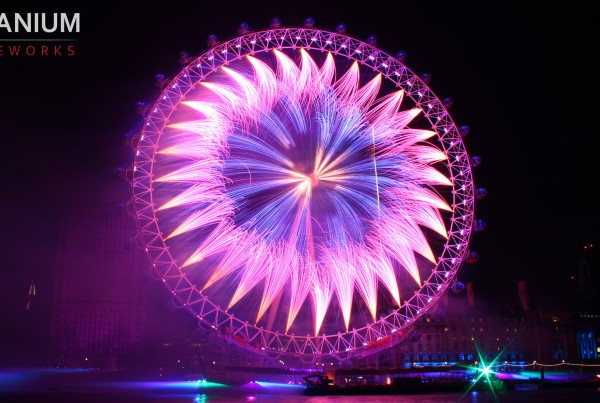 London Eye Purple Blue
