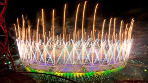 2012 Olympics Stadium White Orange