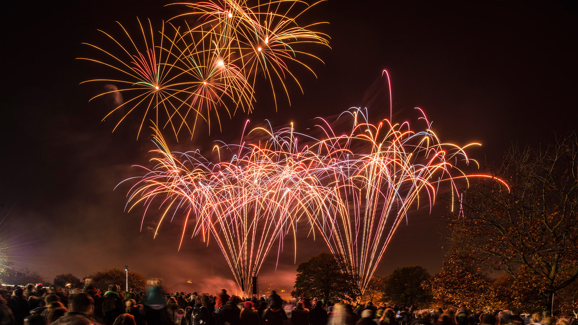 borckwell park, lambeth, bonfire night, fireworks, professional, private, corporate, pyrotechnics