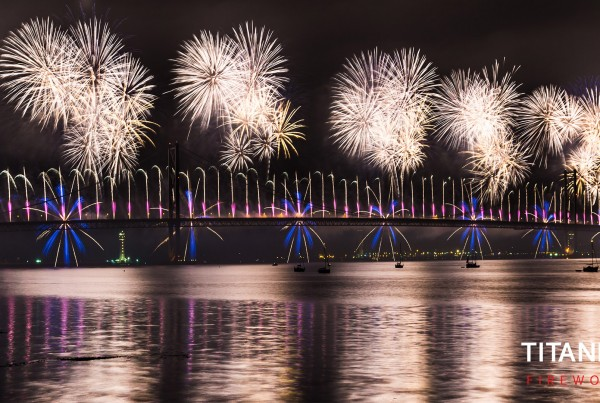 forth road bridge, fireworks, 50th anniversary, display, company, professional,