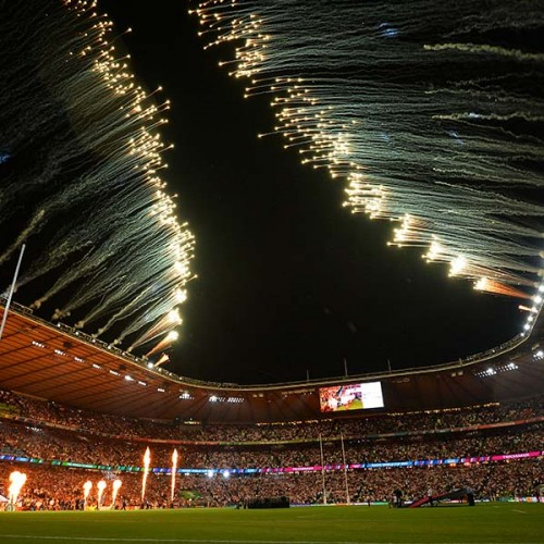rugby world cup, world cup, 2015, stadium, fireworks, opening ceremony, twickenham