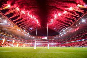 rugby world cup, world cup, 2015, stadium, fireworks, opening ceremony, twickenham