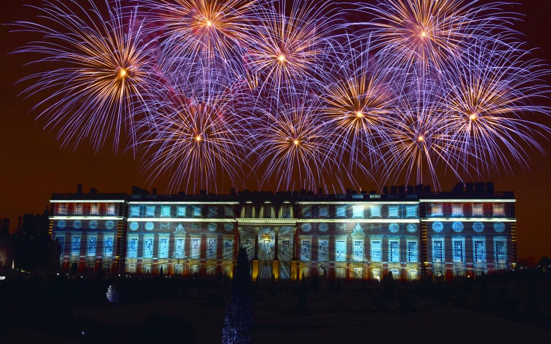Fireworks at Historic Buildings
