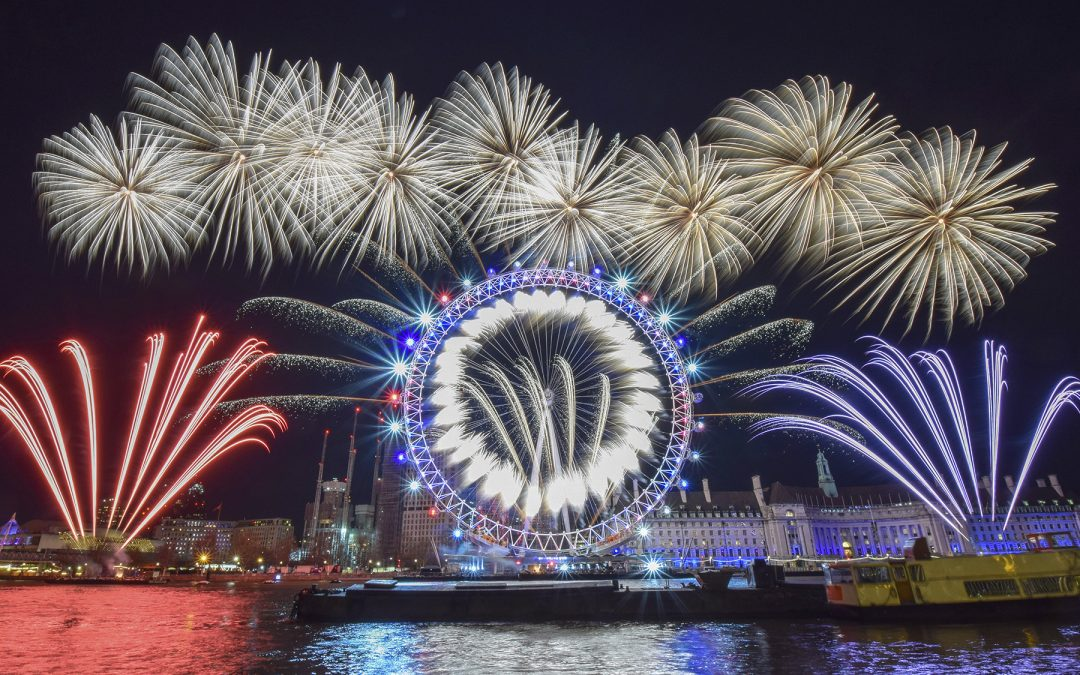 What makes up the London New Year's Eve Fireworks